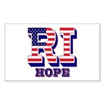 Rhode Island RI Hope Sticker (Rectangle)