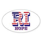 Rhode Island RI Hope Sticker (Oval 50 pk)