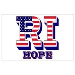 Rhode Island RI Hope Large Poster