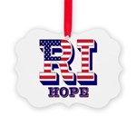 Rhode Island RI Hope Picture Ornament