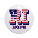 Rhode Island RI Hope Ornament (Round)