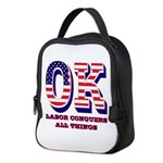 Oklahoma OK Labor Conquers All Neoprene Lunch Bag