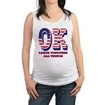 Oklahoma OK Labor Conquers All Maternity Tank Top
