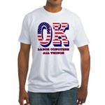 Oklahoma OK Labor Conquers All Thin Fitted T-Shirt