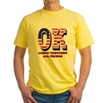 Oklahoma OK Labor Conquers All Thin Yellow T-Shirt