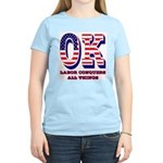 Oklahoma OK Labor Conquers A Women's Light T-Shirt