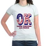 Oklahoma OK Labor Conquers All Jr. Ringer T-Shirt