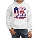 Oklahoma OK Labor Conquers All T Hooded Sweatshirt