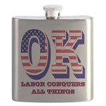 Oklahoma OK Labor Conquers All Things Flask