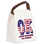 Oklahoma OK Labor Conquers All Th Canvas Lunch Bag