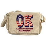 Oklahoma OK Labor Conquers All Thing Messenger Bag
