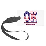 Oklahoma OK Labor Conquers All T Large Luggage Tag
