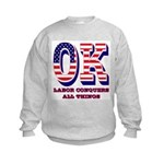 Oklahoma OK Labor Conquers All Thi Kids Sweatshirt