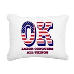 Oklahoma OK Labor Conque Rectangular Canvas Pillow