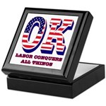 Oklahoma OK Labor Conquers All Things Keepsake Box