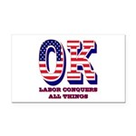 Oklahoma OK Labor Conquers Al Rectangle Car Magnet