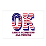Oklahoma OK Labor Conquer Postcards (Package of 8)