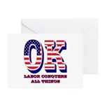 Oklahoma OK Labor Conque Greeting Cards (Pk of 20)