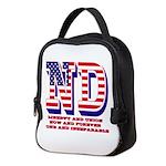 North Dakota ND Liberty And Uni Neoprene Lunch Bag