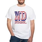 North Dakota ND Liberty And Union No White T-Shirt