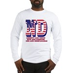 North Dakota ND Liberty And Un Long Sleeve T-Shirt