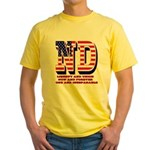 North Dakota ND Liberty And Union N Yellow T-Shirt