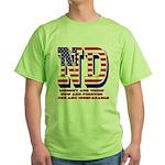 North Dakota ND Liberty And Union No Green T-Shirt