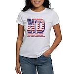 North Dakota ND Liberty And Union Women's T-Shirt