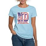 North Dakota ND Liberty And Women's Light T-Shirt