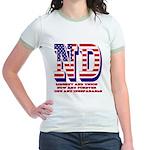 North Dakota ND Liberty And Uni Jr. Ringer T-Shirt