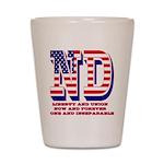 North Dakota ND Liberty And Union Now A Shot Glass