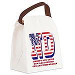 North Dakota ND Liberty And Union Canvas Lunch Bag