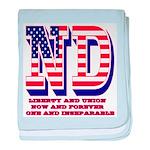 North Dakota ND Liberty And Union Now baby blanket
