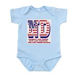 North Dakota ND Liberty And Union Infant Bodysuit