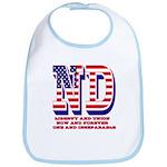 North Dakota ND Liberty And Union Now And Fore Bib