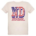 North Dakota ND Liberty And U Organic Kids T-Shirt