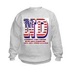 North Dakota ND Liberty And Union Kids Sweatshirt