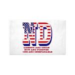 North Dakota ND Liberty And Union Now And Area Rug