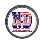 North Dakota ND Liberty And Union Now A Wall Clock