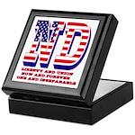 North Dakota ND Liberty And Union Now Keepsake Box