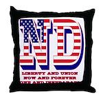 North Dakota ND Liberty And Union Now Throw Pillow