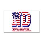 North Dakota ND Liberty And Uni Car Magnet 20 x 12