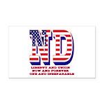 North Dakota ND Liberty And U Rectangle Car Magnet
