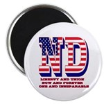North Dakota ND Liberty And Union Now And F Magnet