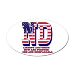 North Dakota ND Liberty And 35x21 Oval Wall Decal