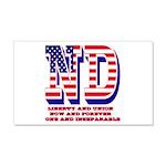 North Dakota ND Liberty And Union 20x12 Wall Decal
