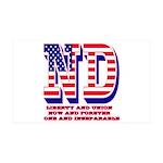 North Dakota ND Liberty And Union 35x21 Wall Decal