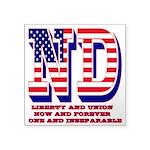 North Dakota ND Liberty And Square Sticker 3