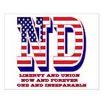 North Dakota ND Liberty And Union Now Small Poster