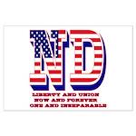 North Dakota ND Liberty And Union Now Large Poster